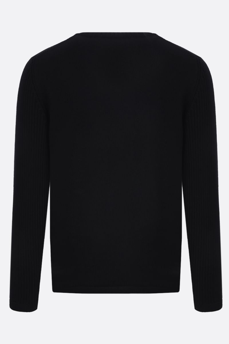 PRADA: nylon pocket-detailed wool pullover Color Black_2
