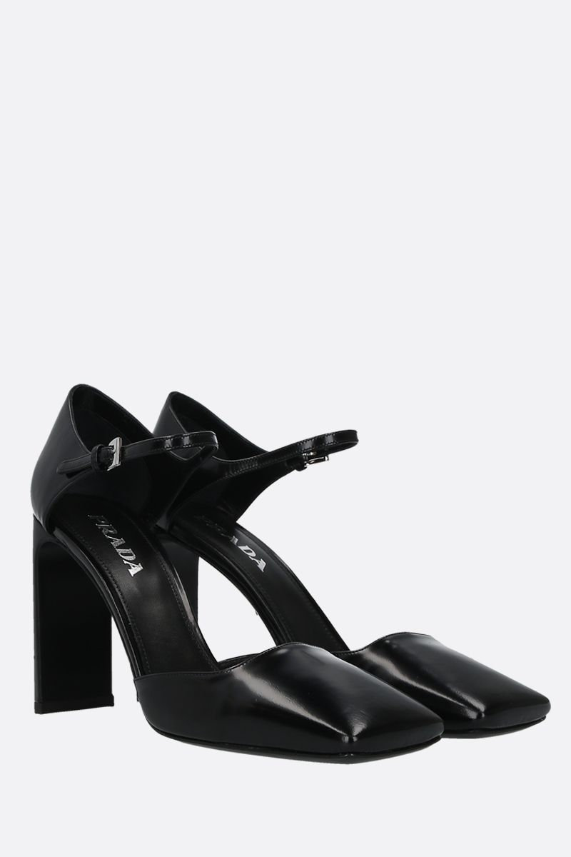 PRADA: bushed calf pumps Color Black_2