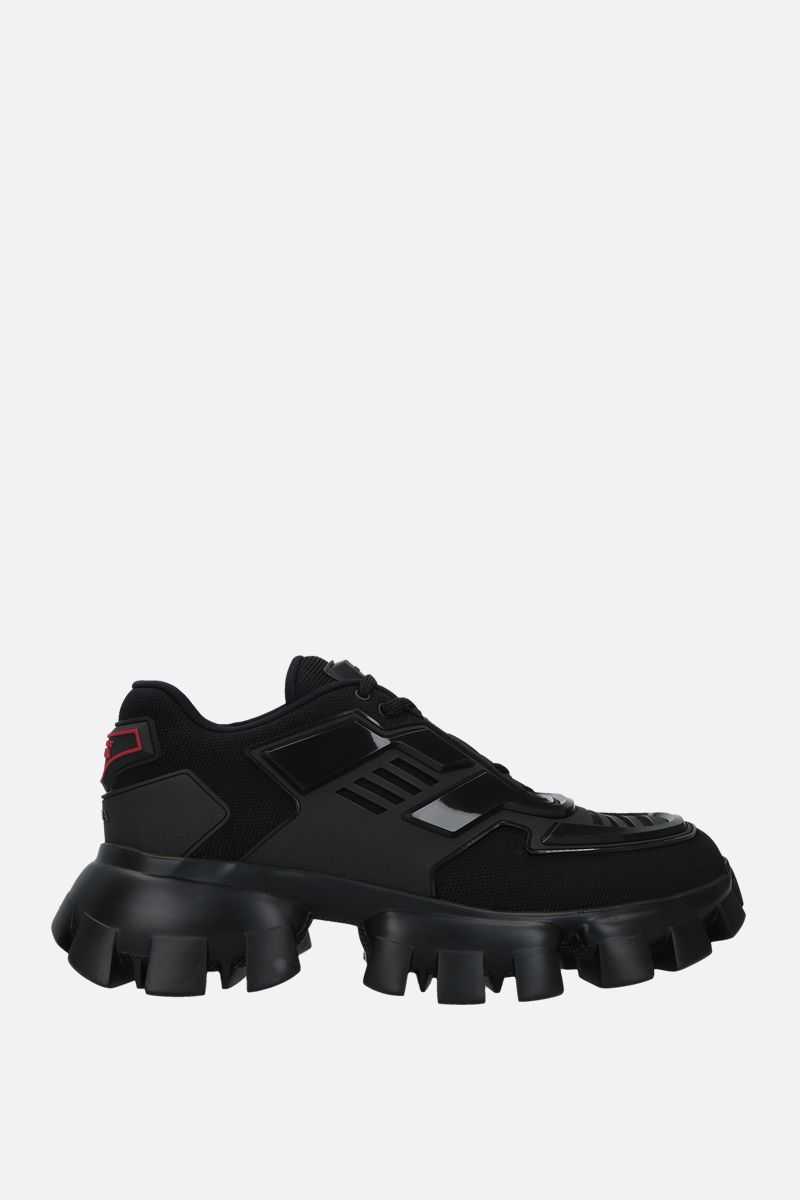 PRADA: Cloudbust Thunder tech fabric and rubber sneakers Color Black_1