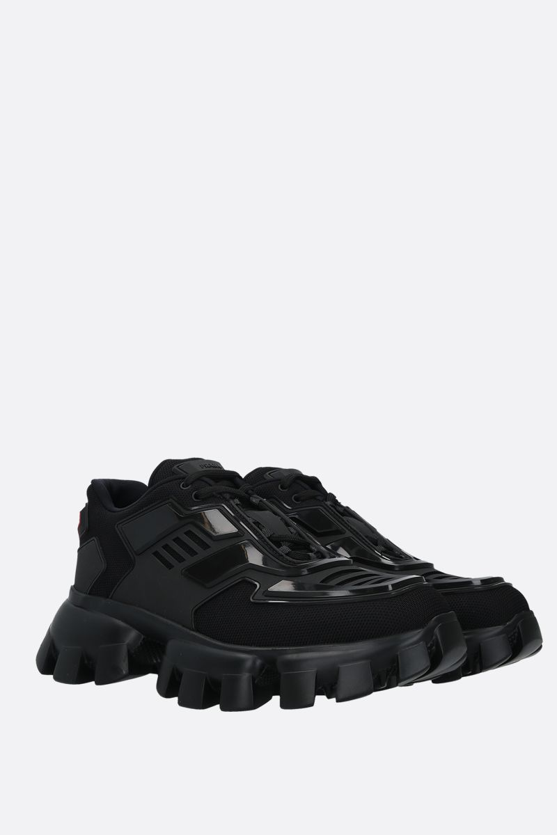 PRADA: Cloudbust Thunder tech fabric and rubber sneakers Color Black_2