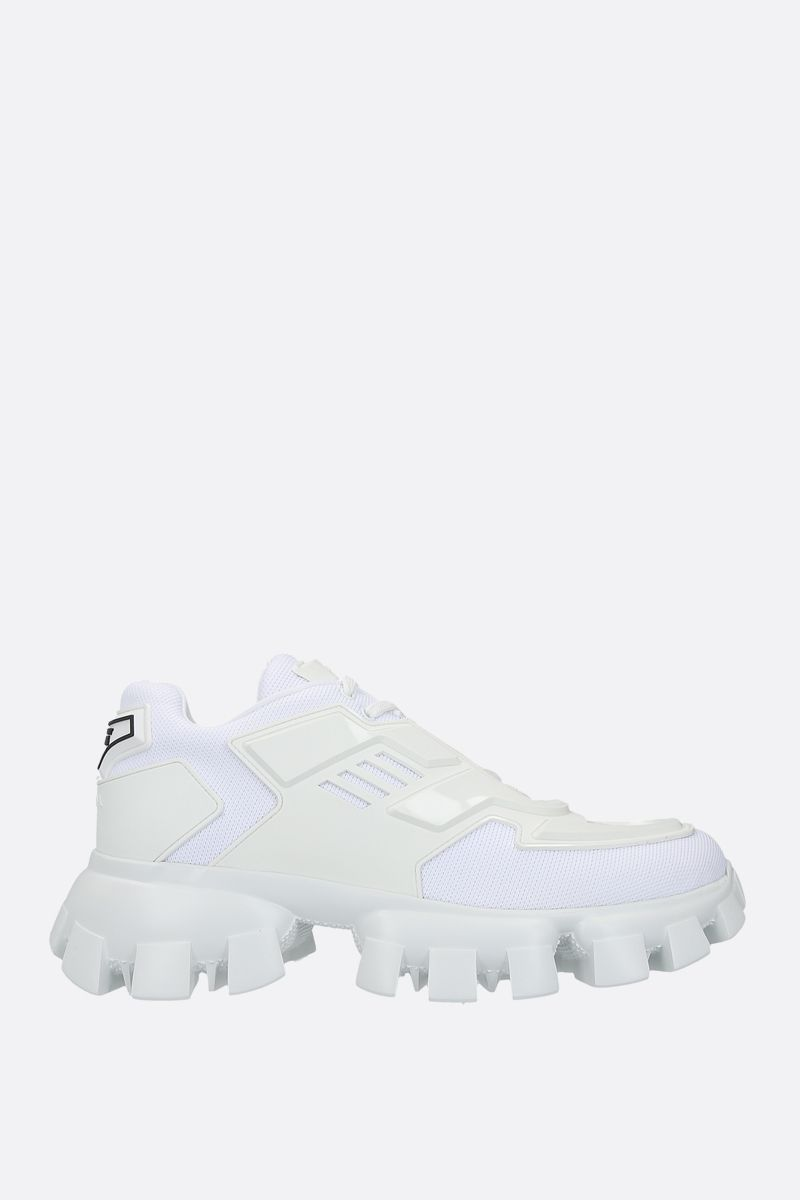 PRADA: Cloudbust Thunder tech fabric and rubber sneakers Color White_1