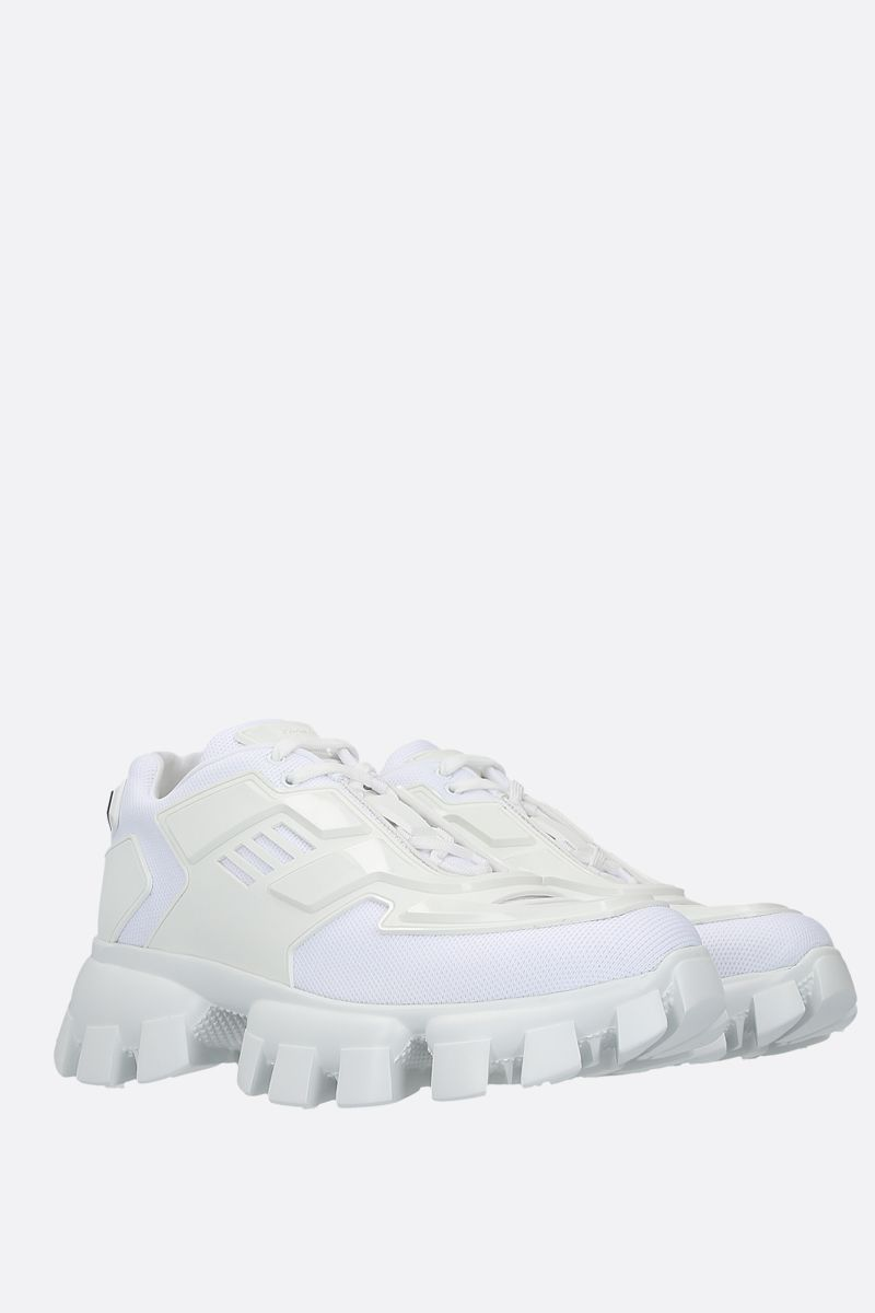 PRADA: Cloudbust Thunder tech fabric and rubber sneakers Color White_2
