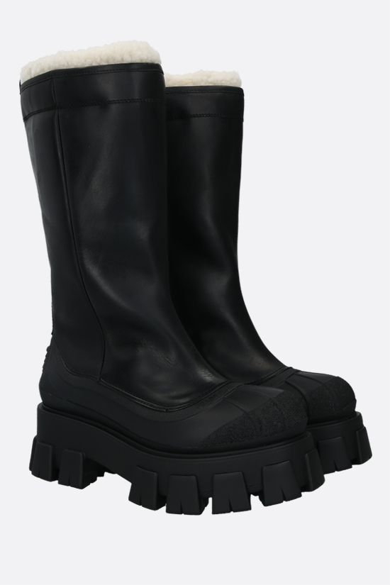 PRADA: Monolith smooth leather and rubber boots Color Black_2