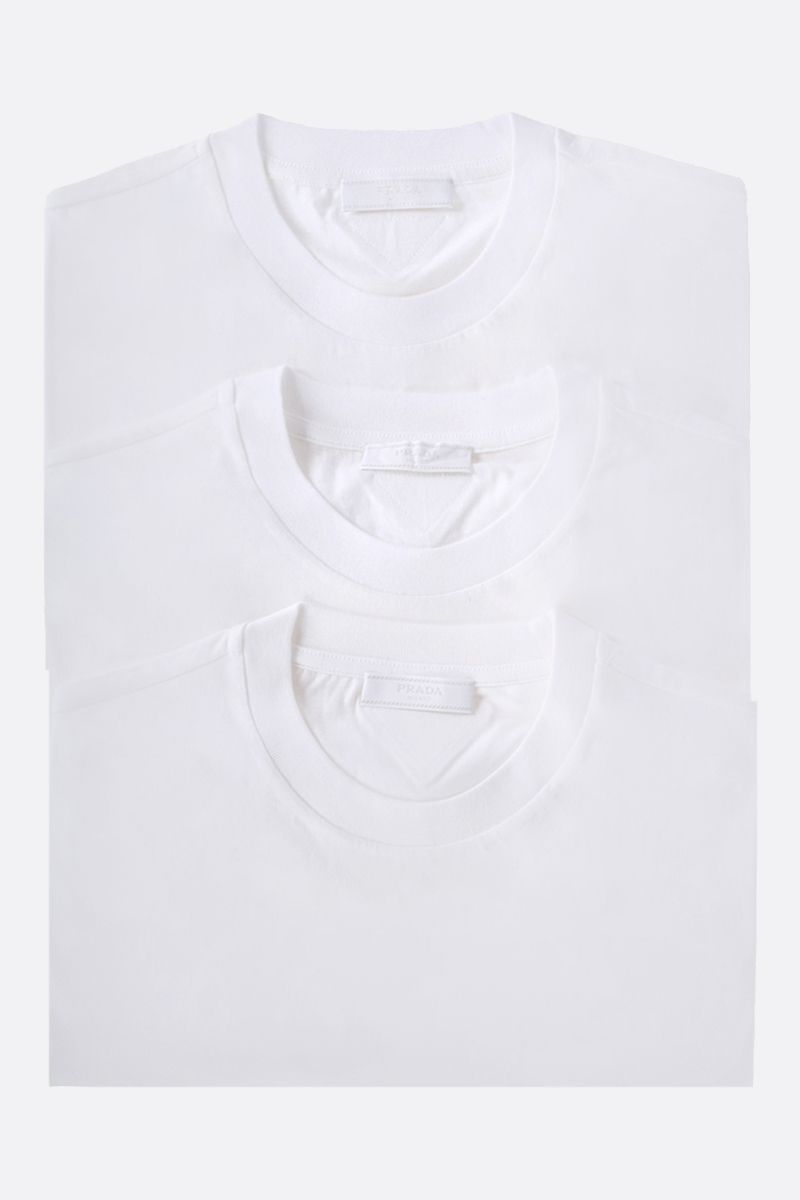 PRADA: 3 pack cotton t-shirt Color White_1