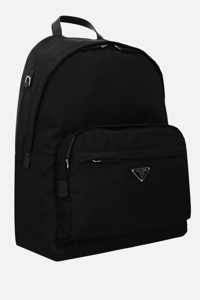 PRADA: Saffiano and nylon backpack Color Black_2