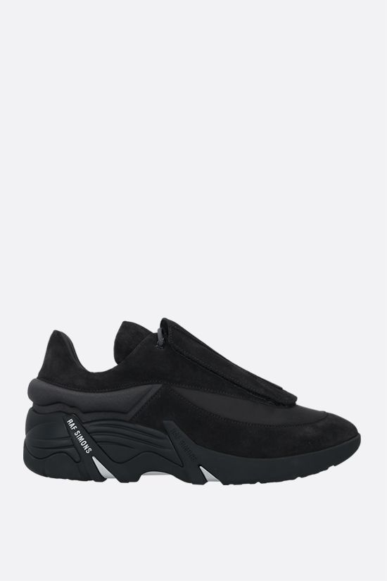 RAF SIMONS: Antei suede and nylon sneakers Color Grey_1