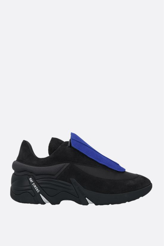 RAF SIMONS: Antei suede and nylon sneakers Color Grey_2