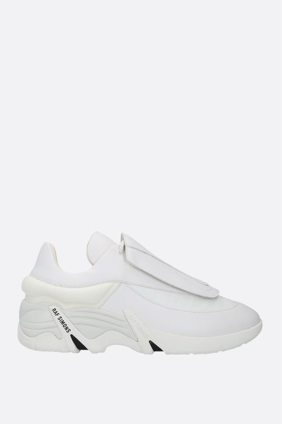 RAF SIMONS: Antei smooth leather and nylon sneakers Color White_1