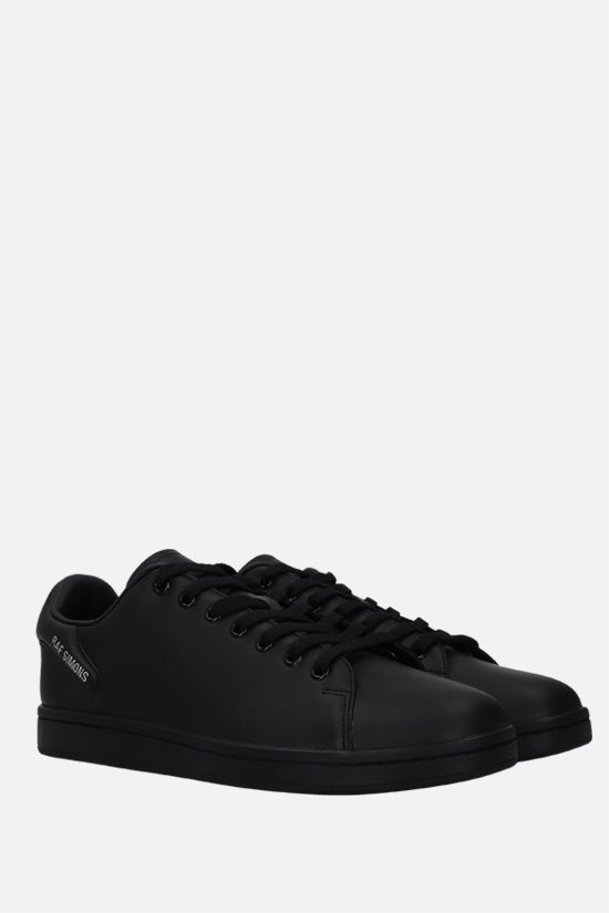 RAF SIMONS: Orion faux leather sneakers Color Black_2