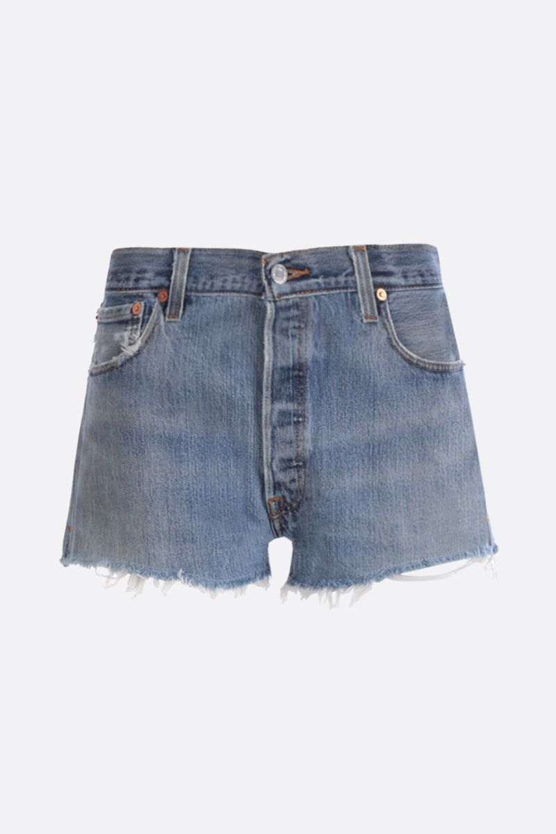 RE/DONE: The Short denim shorts Color Blue_1