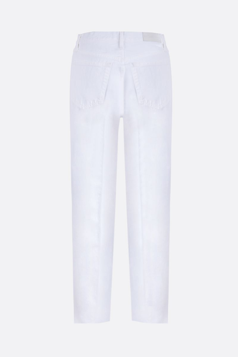 RE/DONE: Stove Pipe cropped jeans Color White_2