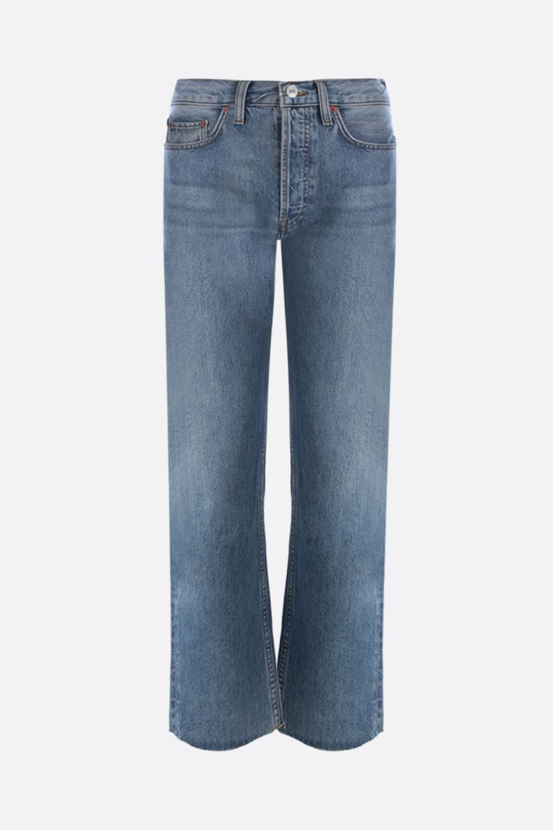 RE/DONE: Stove Pipe cropped jeans Color Blue_1