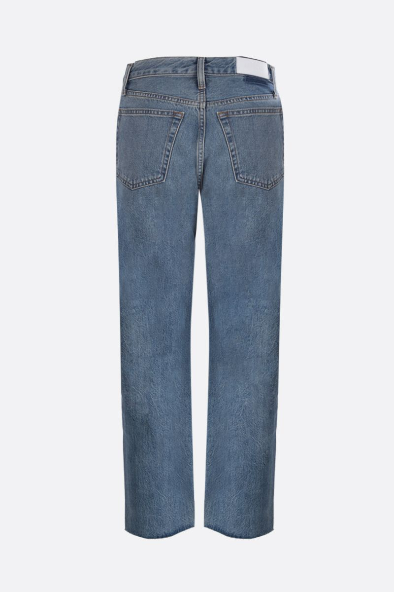 RE/DONE: Stove Pipe cropped jeans Color Blue_2
