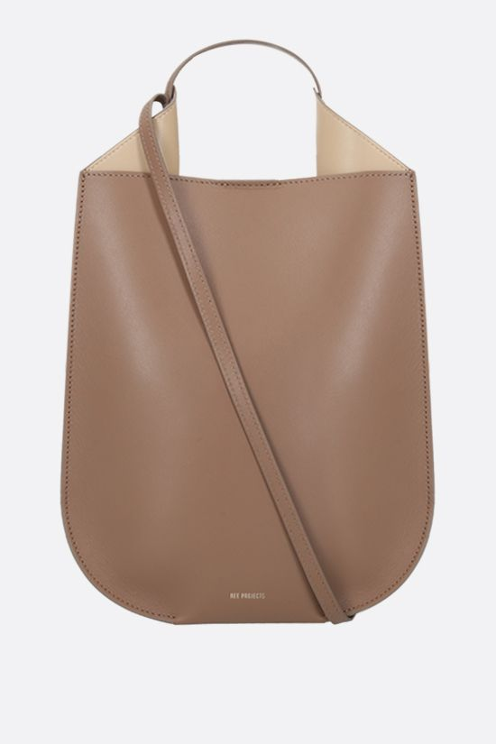 REE PROJECTS: Helene mini smooth leather handbag Color Neutral_1