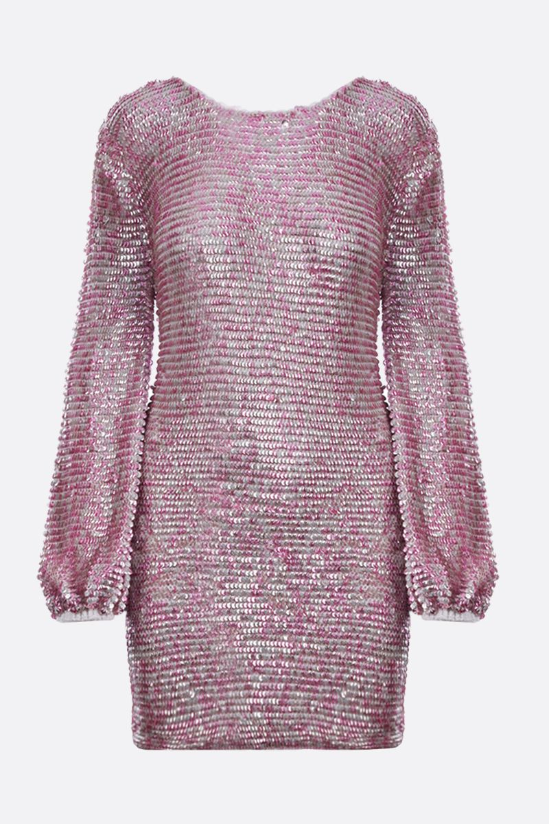 RETROFETE: Tara sequin crochet knit minidress Color Pink_1