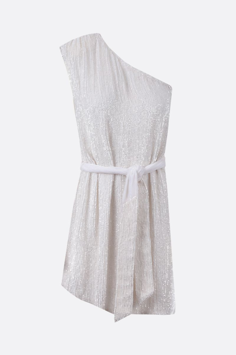 RETROFETE: Ella sequinned one-shoulder minidress Color White_1