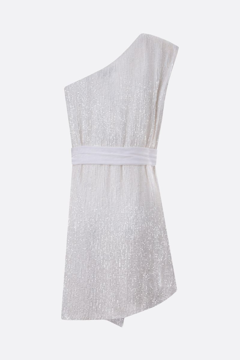 RETROFETE: Ella sequinned one-shoulder minidress Color White_2