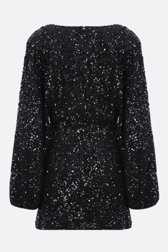 RETROFETE: Aubrielle sequinned fabric minidress Color Black_2