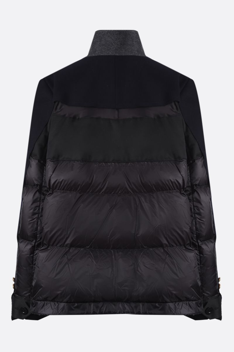 SACAI: nylon and wool padded jacket Color Blue_2