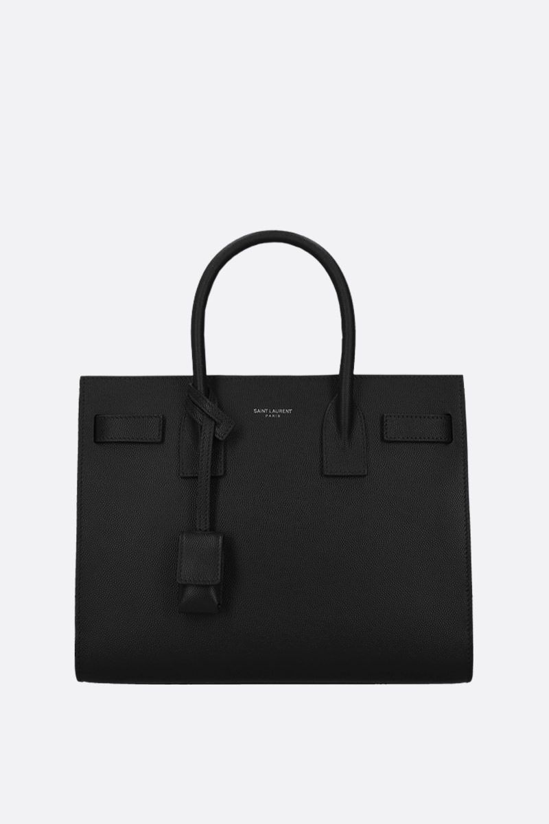 SAINT LAURENT: borsa a mano Sac de Jour small in pelle Grain de Poudre Colore Nero_1