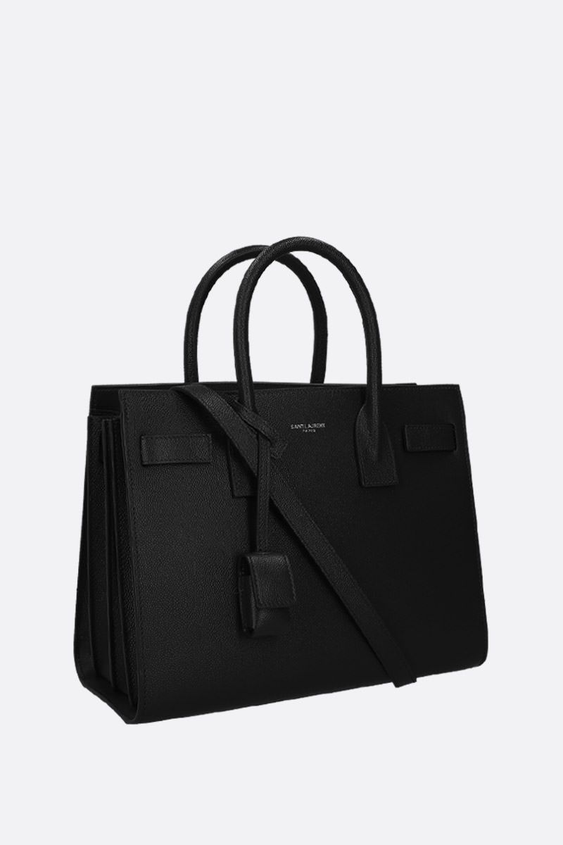 SAINT LAURENT: borsa a mano Sac de Jour small in pelle Grain de Poudre Colore Nero_2