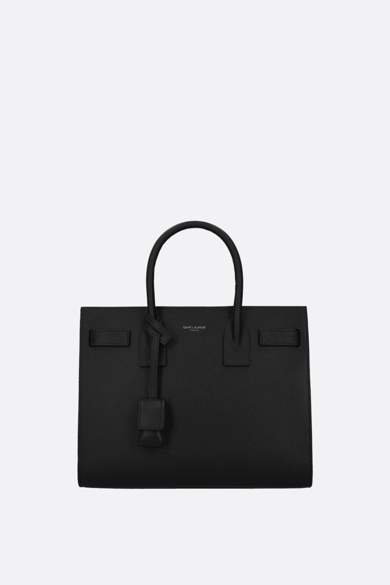 SAINT LAURENT: borsa a mano Sac de Jour baby in pelle Grain de Poudre Colore Nero_1