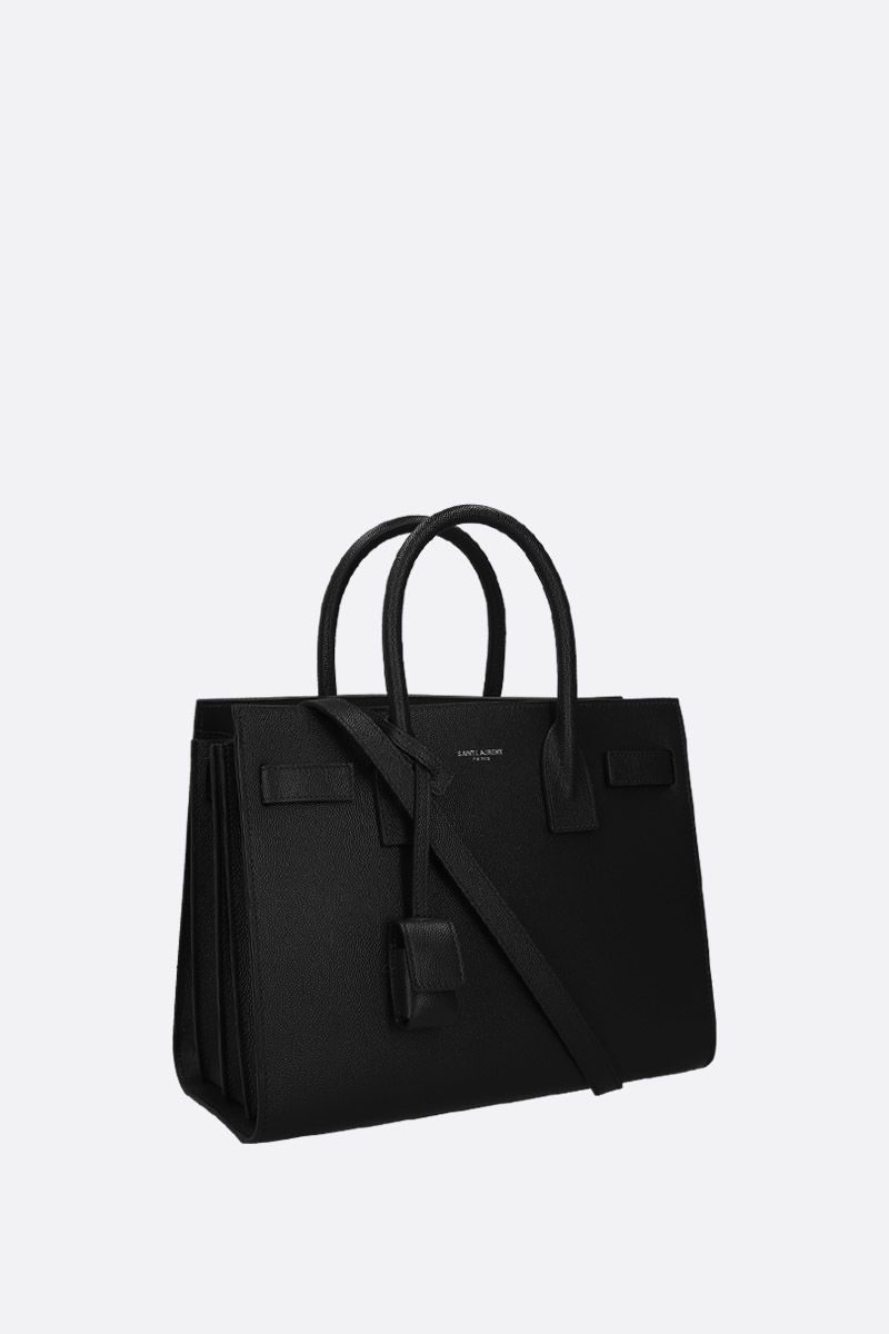 SAINT LAURENT: borsa a mano Sac de Jour baby in pelle Grain de Poudre Colore Nero_2