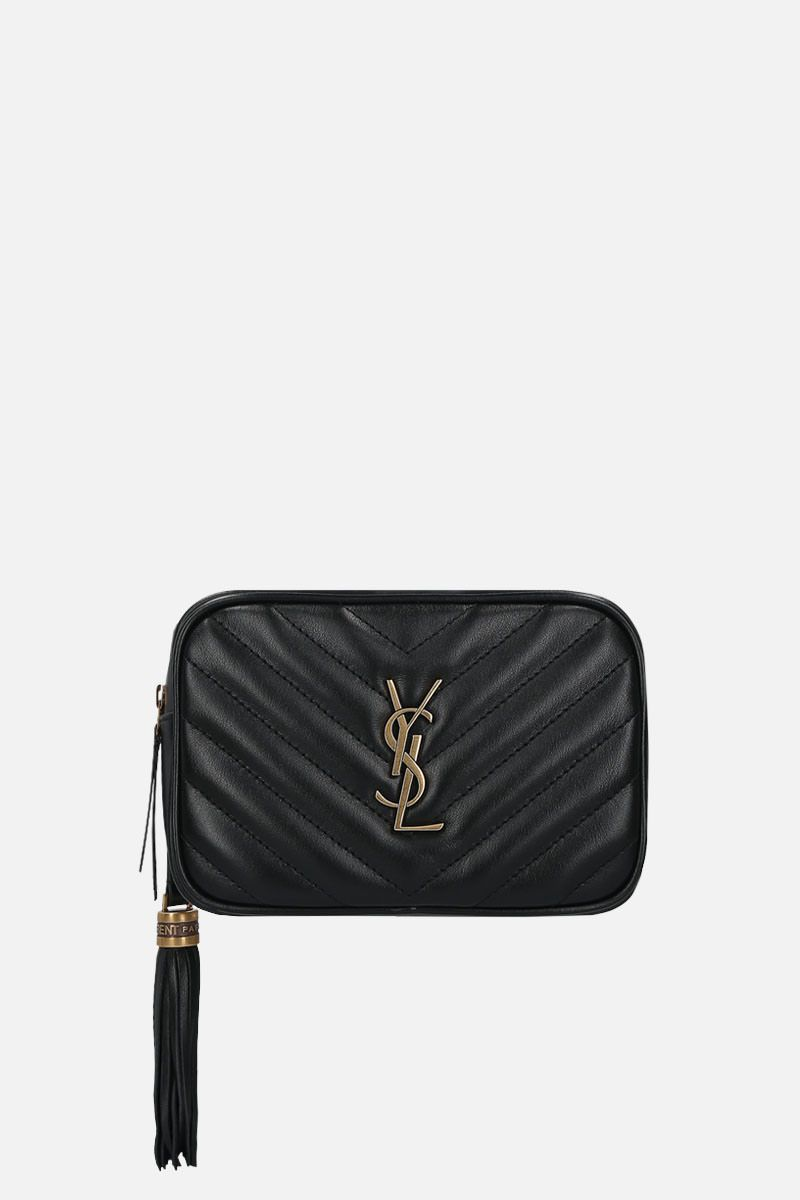 SAINT LAURENT: Lou quilted leather belt bag Color Black_1
