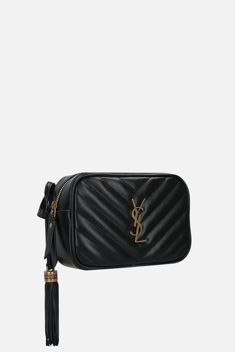 SAINT LAURENT: Lou quilted leather belt bag Color Black_2