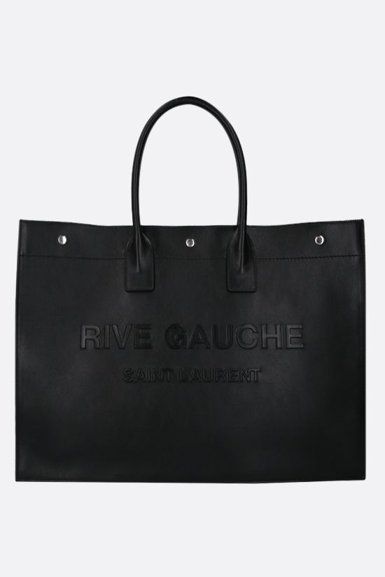 SAINT LAURENT: Noe smooth leather tote bag Color Black_1