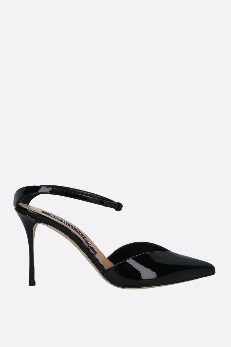 SERGIO ROSSI: Godiva patent leather mules Color Black_1