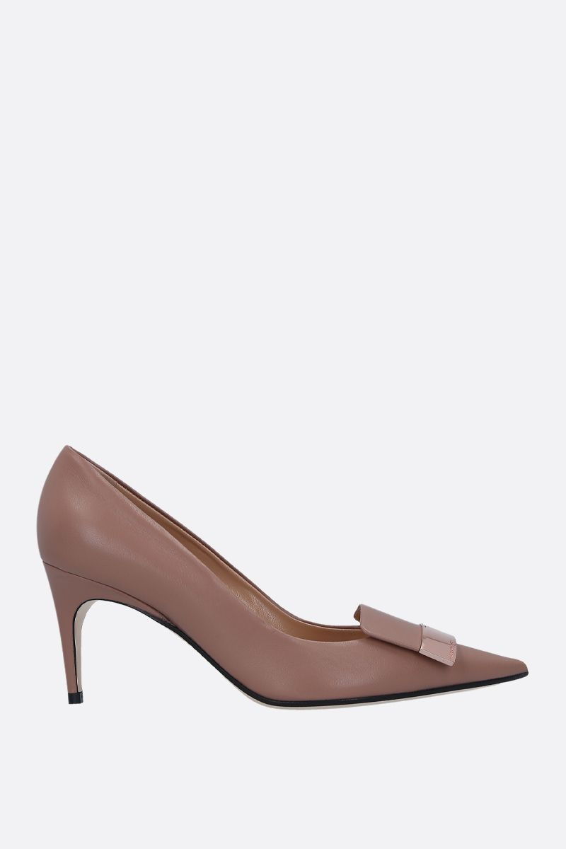 SERGIO ROSSI: SR1 smooth leather pumps_1
