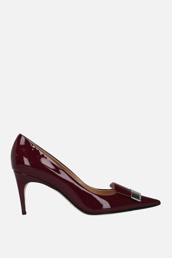 SERGIO ROSSI: SR1 patent leather pumps Color Red_1