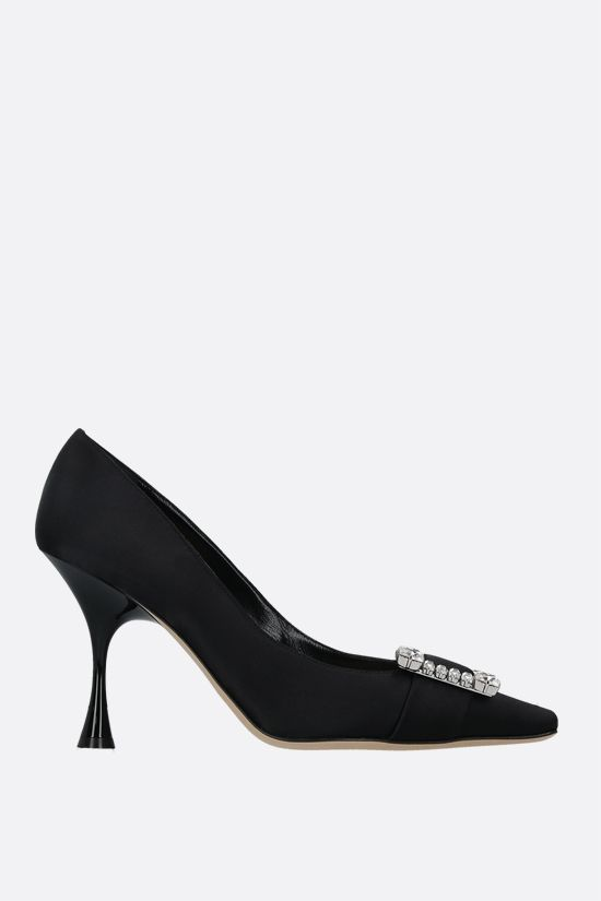 SERGIO ROSSI: sr Twenty shiny satin pumps Color Black_1