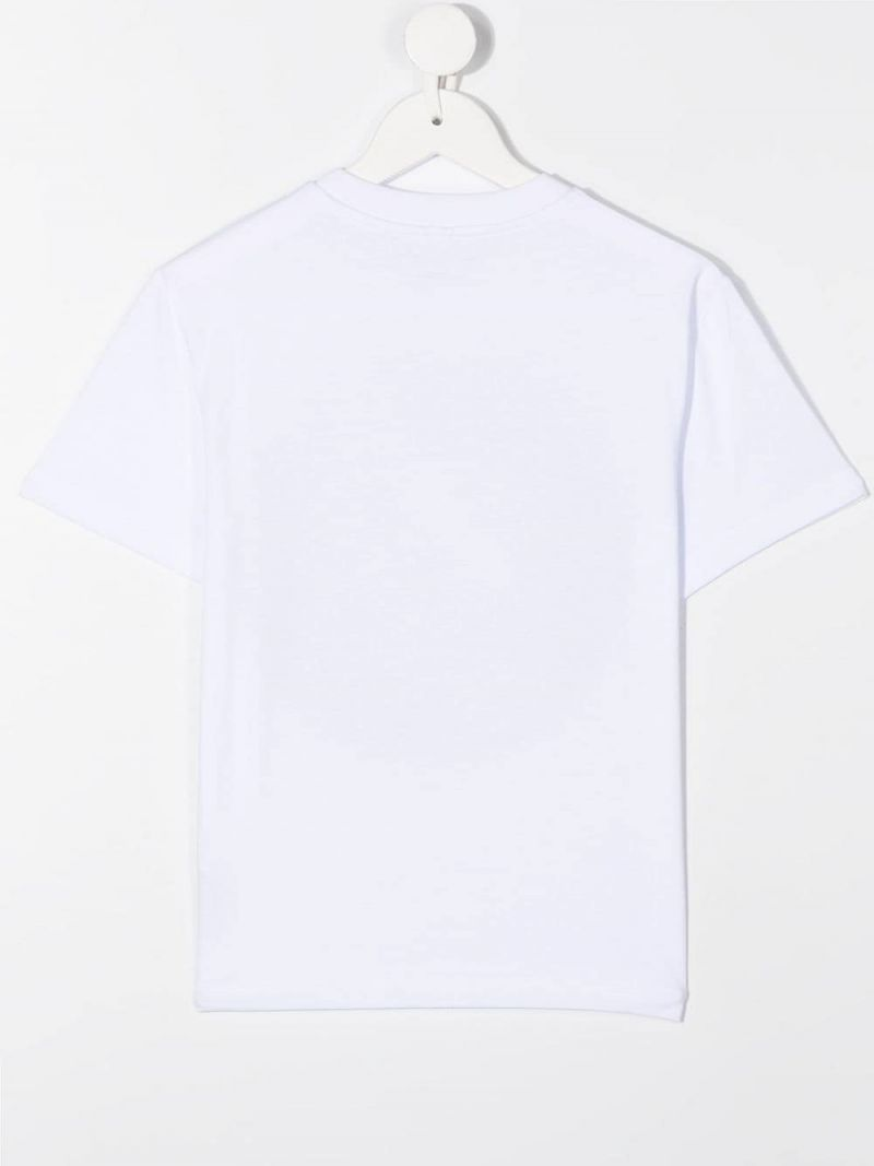 STELLA McCARTNEY KIDS: Record Logo print cotton t-shirt Color White_2