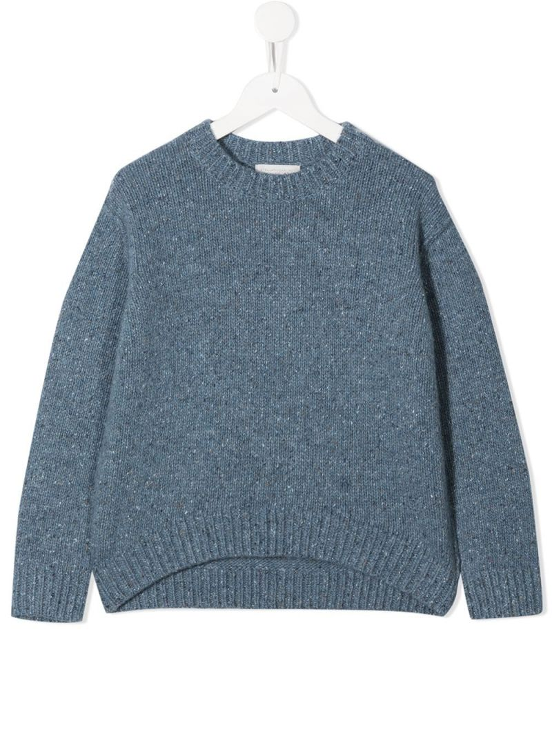 STELLA McCARTNEY KIDS: wool blend pullover Color Blue_1