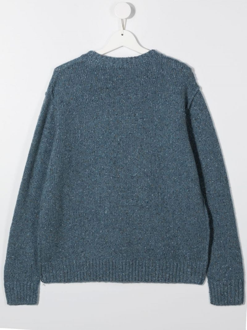 STELLA McCARTNEY KIDS: wool blend pullover Color Blue_2