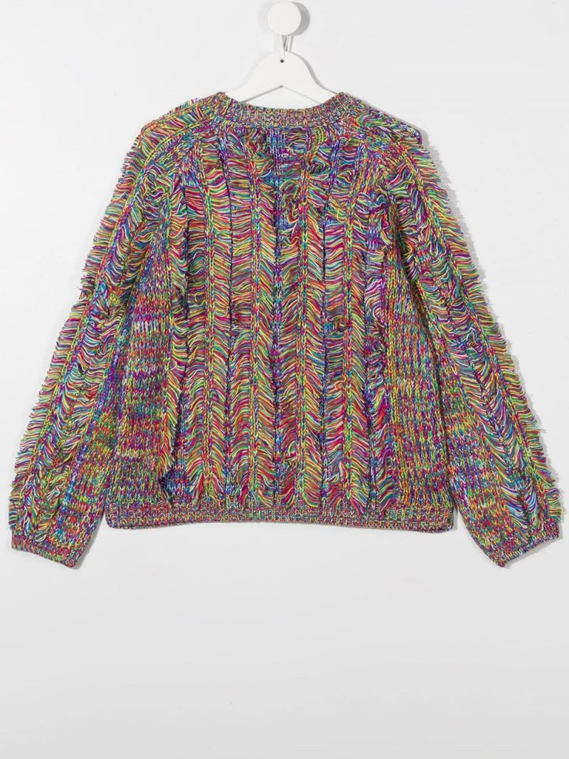 STELLA McCARTNEY KIDS: Space Dyed acrylic pullover Color Multicolor_2
