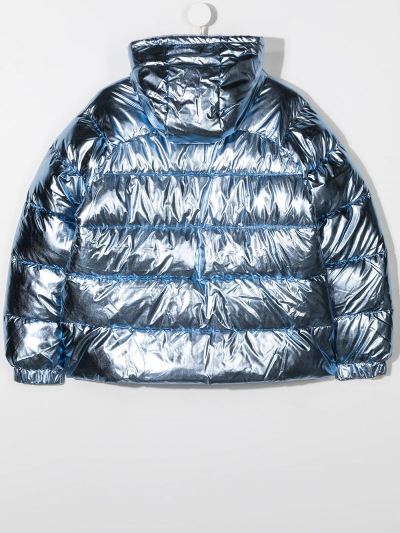 STELLA McCARTNEY KIDS: laminated nylon padded jacket Color Blue_2