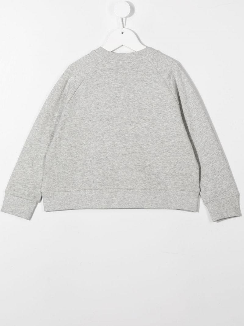 STELLA McCARTNEY KIDS: horse print cotton sweatshirt Color Grey_2