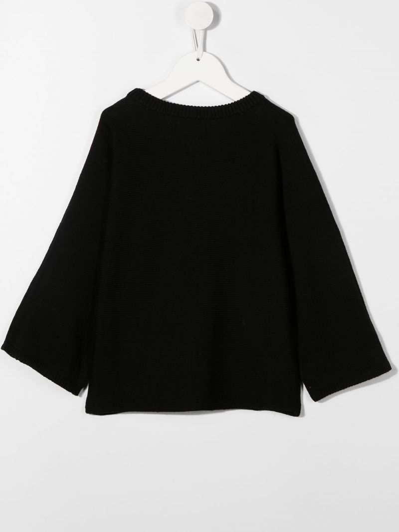STELLA McCARTNEY KIDS: Stellabration cotton wool blend pullover Color Black_2