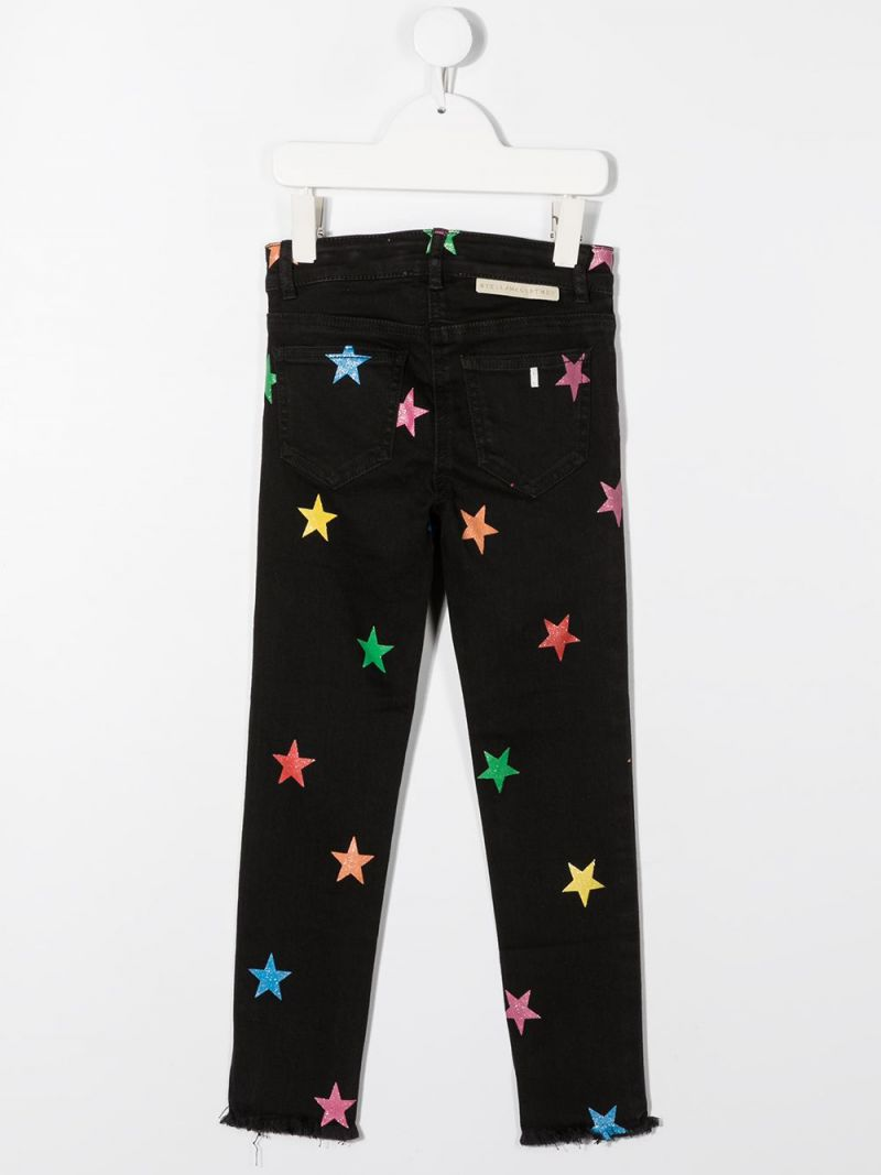STELLA McCARTNEY KIDS: jeans straight-fit con stelle glitter Colore Multicolore_2