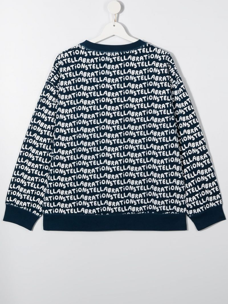 STELLA McCARTNEY KIDS: Stellabration print cotton sweatshirt Color Blue_2