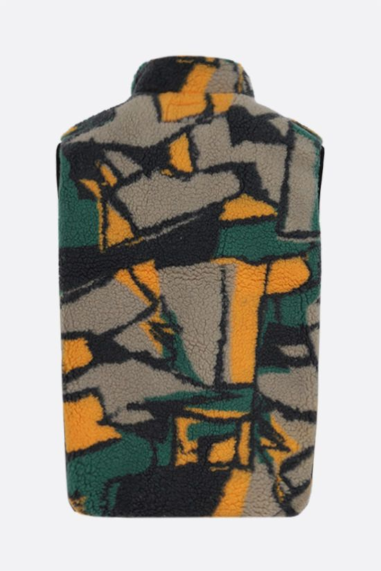 STUSSY: abstract print fleece vest Color Multicolor_2