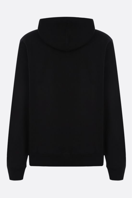 STUSSY: Stussy Fire cotton hoodie Color Black_2