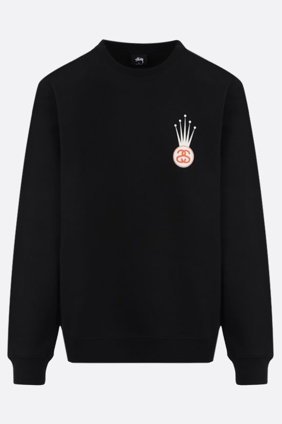 STUSSY: Crown Link cotton blend sweatshirt Color Black_1