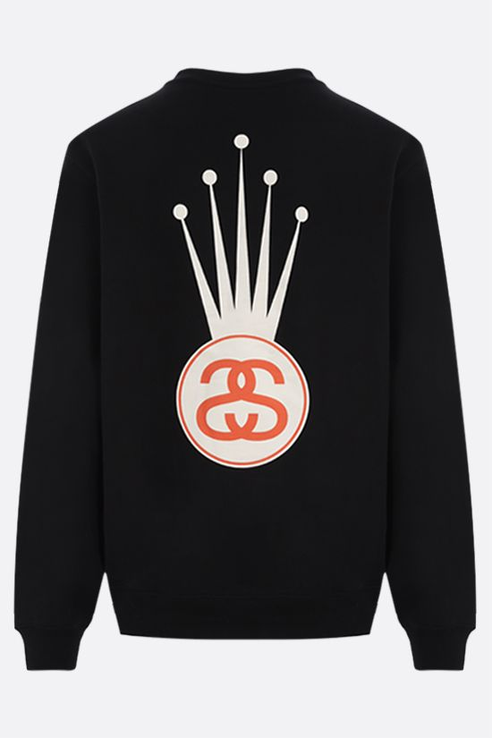 STUSSY: Crown Link cotton blend sweatshirt Color Black_2