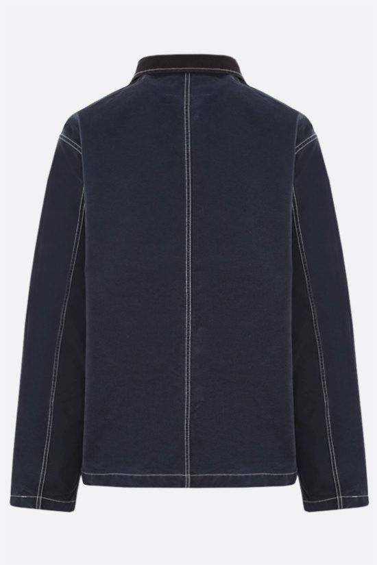 STUSSY: Stussy embroidered cotton jacket Color Blue_2
