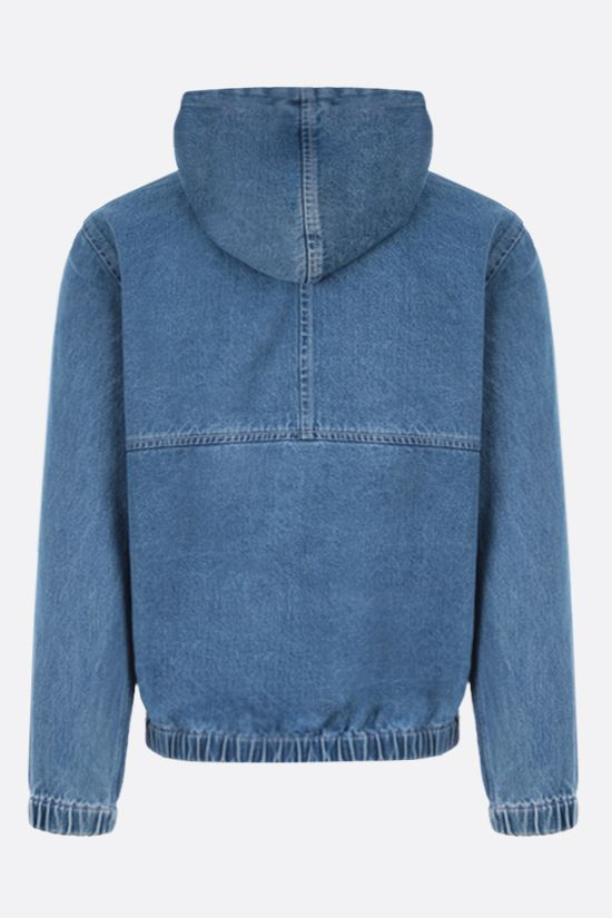STUSSY: full-zip denim jacket Color Blue_2