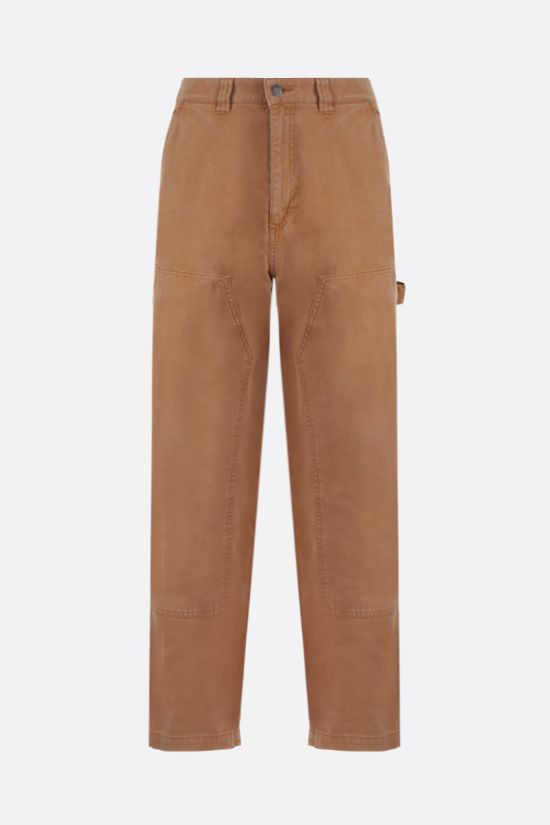 STUSSY: straight-fit cotton pants Color Gold_1